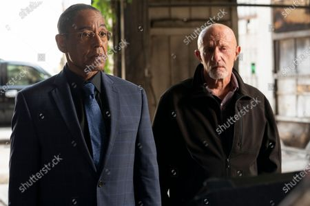 """Giancarlo Esposito as Gustavo """"Gus"""" Fring and Jonathan Banks as Mike Ehrmantraut"""