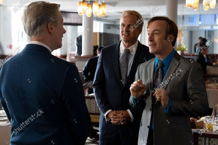 Sewell Whitney as Judge Lawler, Patrick Fabian as Howard Hamlin and Bob Odenkirk as Jimmy McGill