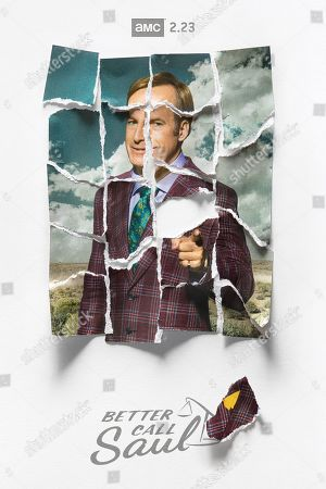 Stock Image of Better Call Saul (2020) Poster Art. Bob Odenkirk as Jimmy McGill