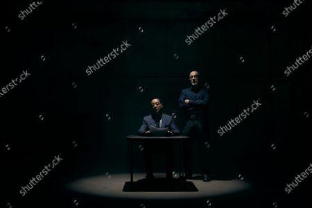 Bob Odenkirk as Jimmy McGill and Rhea Seehorn as Kim Wexler