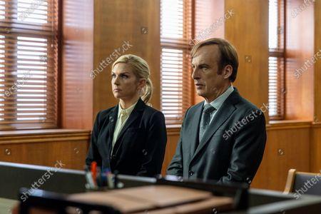 Rhea Seehorn as Kim Wexler and Bob Odenkirk as Jimmy McGill