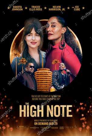 Stock Picture of The High Note (2020) Poster Art. Dakota Johnson as Maggie Sherwoode and Tracee Ellis Ross as Grace Davis