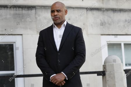 Stock Picture of The Mayor of Bristol, Marvin Rees speaks to the Associated Press in Bristol, England, following the downing of a statue of Edward Colston on Sunday at a Black Lives Matter demo. The toppling of the statue was greeted with joyous scenes, recognition of the fact that he was a notorious slave trader - a badge of shame in what is one of Britain's most liberal cities