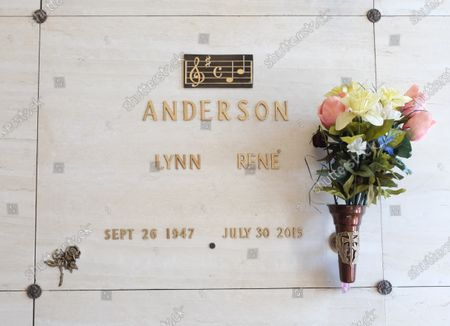 Stock Image of Lynn Anderson crypt at Woodlawn Memorial Park and Mausoleum