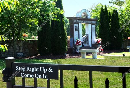 Stock Picture of George Jones ' gravesite at Woodlawn Memorial Park and Mausoleum