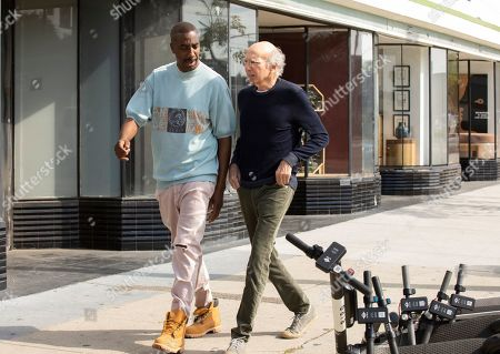 J.B. Smoove as Leon and Larry David as Larry David