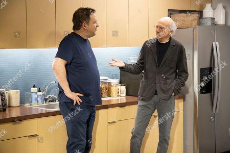 Stock Image of Jeff Garlin as Jeff Greene and Larry David as Larry David