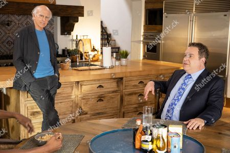 Stock Picture of Larry David as Larry David and Jeff Garlin as Jeff Greene