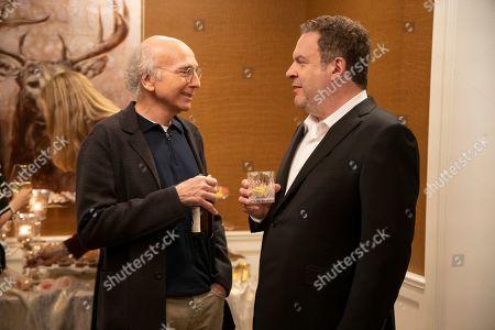 Stock Photo of Larry David as Larry David and Jeff Garlin as Jeff Greene
