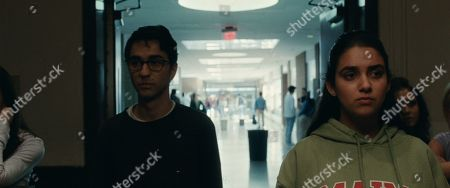 Alex Wolff as Nick Fleishman and Geraldine Viswanathan as Rachel Bhargava