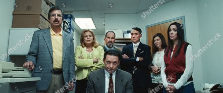 Stock Photo of Ray Romano as Big Bob Spicer, Catherine Curtin as Judy Shapiro, Michael Jay Henry as Joel, Sixth Boardie, Hugh Jackman as Frank Tassone, Laura Patinkin as Irene, Third Agent and Finnerty Steeves as Beth, Fourth Boardie