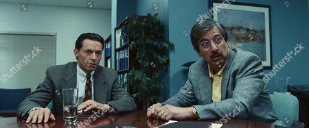 Hugh Jackman as Frank Tassone and Ray Romano as Big Bob Spicer