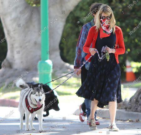 Editorial image of Laura Dern walking her dog, Los Angeles, California, USA - 07 Jun 2020