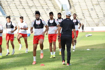 Stock Picture of Tunisian player Ferjani sassi attends a training session at the Elmanzeh stadium after three months of inactivity due to the coronavirus pandemic.