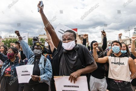 Several thousand people have demonstrated in Lyon to support Adama Traore's family, to protest against racism in the police and violence in France and around the world and in support of US protesters over the death of George Floyd
