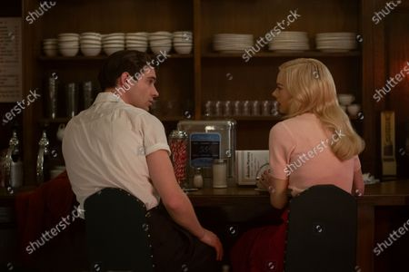 David Corenswet as Jack Castello and Samara Weaving as Claire Wood