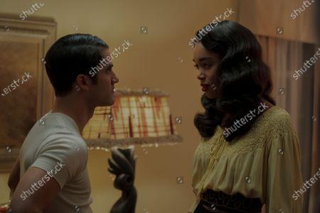 Darren Criss as Raymond Ainsley and Laura Harrier as Camille Washington