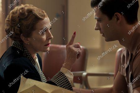 Holland Taylor as Ellen Kincaid and David Corenswet as Jack Castello