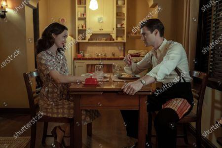 Maude Apatow as Henrietta Castello and David Corenswet as Jack Castello