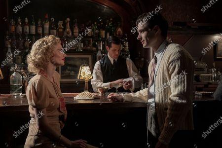 Samara Weaving as Claire Wood, Jake Picking as Rock Hudson and David Corenswet as Jack Castello