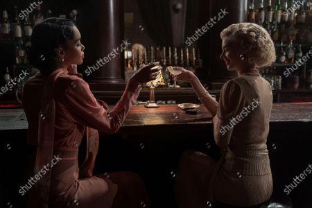 Laura Harrier as Camille Washington and Samara Weaving as Claire Wood