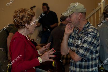 Stock Photo of Holland Taylor as Ellen Kincaid and Ryan Murphy Director