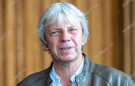 Stock Image of Andreas Dresen at the movie theater Kino International in Berlin, Germany, 09 June 2020. German president Frank-Walter Steinmeier discussed the current situation of cinemas and filmmakers amid the Coronavirus pandemic.