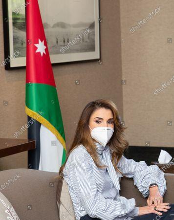 Editorial picture of Queen Rania visit to the Royal Health Awareness Society, Amman, Jordan - 09 Jun 2020