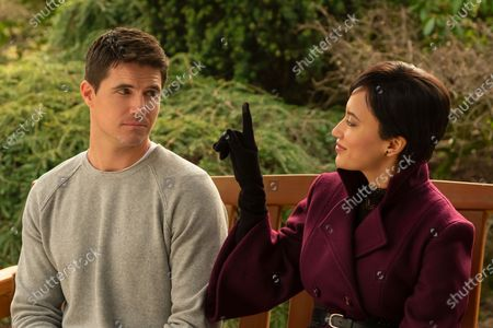 Robbie Amell as Nathan Brown and Andy Allo as Nora Antony