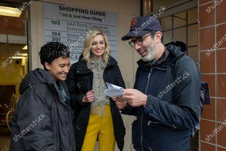 Stock Photo of Andy Allo as Nora Antony, Allegra Edwards as Ingrid Kannerman and Jeffrey Blitz Director