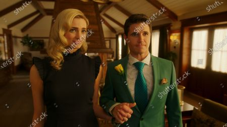 Allegra Edwards as Ingrid Kannerman and Robbie Amell as Nathan Brown