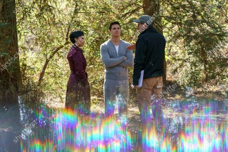 Andy Allo as Nora Antony, Robbie Amell as Nathan Brown and Greg Daniels Director