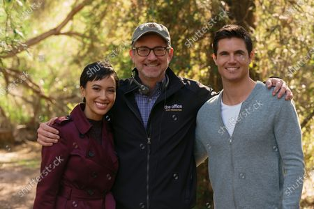 Andy Allo as Nora Antony, Greg Daniels Director and Robbie Amell as Nathan Brown