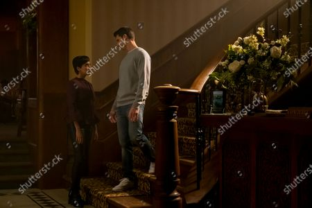 Andy Allo as Nora Antony and Robbie Amell as Nathan Brown