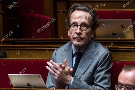 Gilles Le Gendre, head of the La Republique en Marche (LREM) parliamentary group during the weekly session of questions to the government in Paris, France, 09 June 2020.