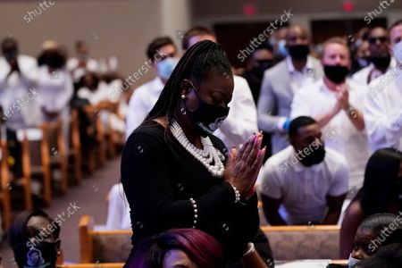 Sybrina Fulton, the mother of Trayvon Martin attends the funeral service for George Floyd at The Fountain of Praise church, in Houston