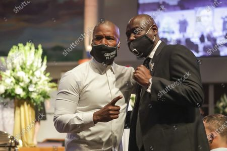 Civil rights attorney Ben Crump poses for a picture with actor Jamie Foxx after the funeral for George Floyd at The Fountain of Praise church in Houston, Texas, USA, 09 June 2020. A bystander's video posted online on 25 May, appeared to show George Floyd, 46, pleading with arresting officers that he couldn't breathe as an officer knelt on his neck. The unarmed Black man later died in police custody and all four officers involved in the arrest have been charged and arrested.