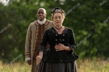 Colin McFarlane as Ulysses and Maria Doyle Kennedy as Jocasta Cameron