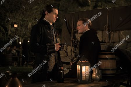 David Berry as Lord John Grey and Sam Heughan as Jamie Fraser