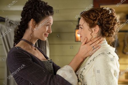 Stock Picture of Caitriona Balfe as Claire Randall and Sophie Skelton as Brianna Randall Fraser