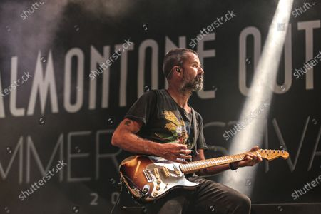 Jarabe De Palo at the Valmontone Summer Festival 2018.  Jarabe De Palo at the Valmontone Summer Festival 2018. This live was one of his last public appearances. The best known musician by his name Pau Dones and leader of the band, died today following cancer diagnosed in 2015 at the age of 53.