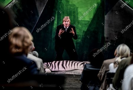 Stefanie Reinsperger performs during the rehearsal for 'BUSSI BABAAL - einmal Baal To Go' at the Berliner Ensemble theater in Berlin, Germany, 09 June 2020. Theaters will reopen in the German capital on 10 June under certain restrictions for social distancing and hygiene measures due to the ongoing pandemic of the COVID-19 disease caused by the SARS-CoV-2 coronavirus.