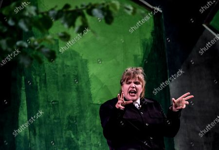 Editorial image of Rehearsal of BUSSI BABAAL - einmal Baal To Go at  the Berliner Ensemble theater, Berlin, Germany - 09 Jun 2020
