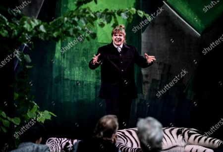 Editorial photo of Rehearsal of BUSSI BABAAL - einmal Baal To Go at  the Berliner Ensemble theater, Berlin, Germany - 09 Jun 2020