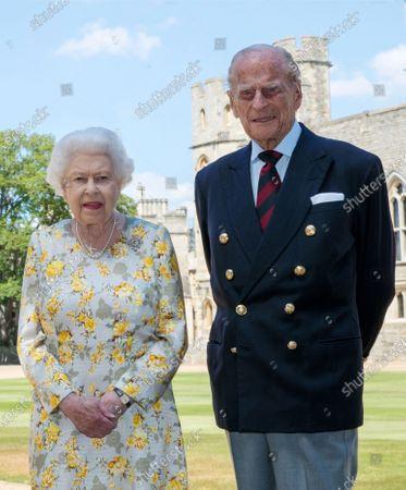 Editorial picture of Queen Elizabeth II and Prince Philip, Windsor Castle, Berkshire, UK - 09 Jun 2020