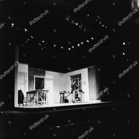 Peter Wyngarde on stage.