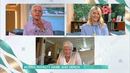 Holly Willoughby, Phillip Schofield and Judi Dench