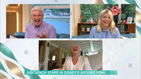 Stock Photo of Holly Willoughby, Phillip Schofield and Judi Dench