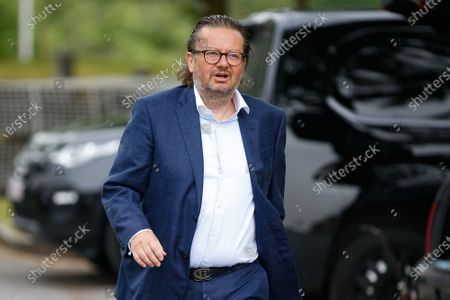 Belgian businessman Marc Coucke arrives for a press conference to present a project DreamVille in Durbuy with owners of 'La Petite Merveille' and Adventure Valley Durbuy, Wednesday 10 June 2020.