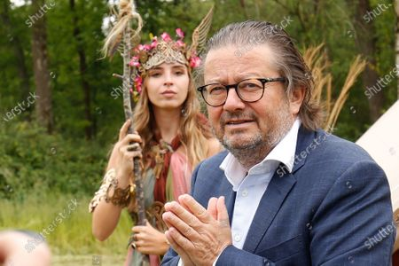 Belgian businessman Marc Coucke pictured during a press conference to present a project DreamVille in Durbuy with owners of 'La Petite Merveille' and Adventure Valley Durbuy, Wednesday 10 June 2020.